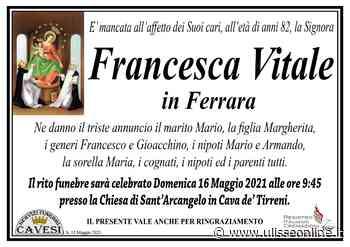 Cava, lutto Vitale – Ferrara - UlisseOnline