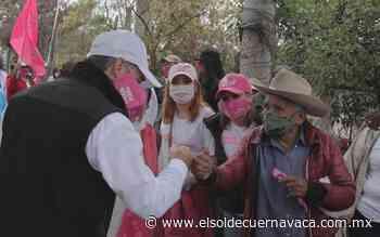Vecinos de Buena Vista del Monte prometen votar por Sergio Estrada - El Sol de Cuernavaca