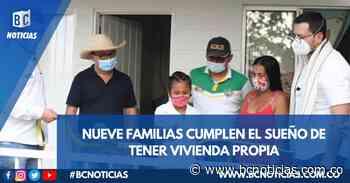 Nueve familias de Norcasia recibieron viviendas prefabricadas - BC NOTICIAS - BC Noticias