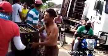 Saquean camión de cerveza en Sabanalarga, Atlántico - infobae