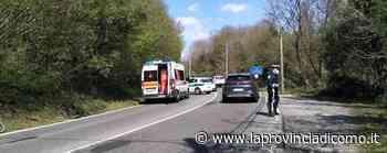 Ciclista caduta a Mariano Soccorsa in via Como - La Provincia di Como