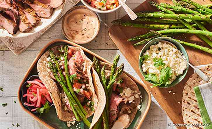 Grilled Steak and Asparagus Tacos