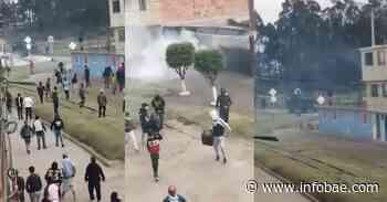Video | Fuertes disturbios se presentaron en el sector de Cartagenita, vía Facatativá - infobae