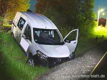 Polizei vermutet Alkoholgenuss: Rahdener fährt gegen Bahngleise - Westfalen-Blatt