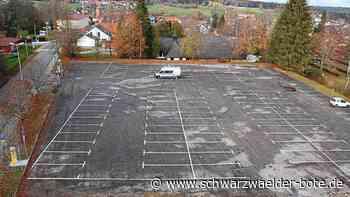 Park-Konzept in Schömberg - Ehemaliges Recyclinghof-Areal bietet ausreichend Parkplätze - Schwarzwälder Bote
