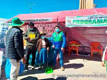 Azángaro: promueven campaña de reciclaje para cuidar el medio ambiente - Pachamama radio 850 AM