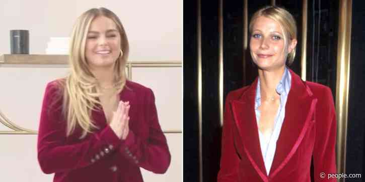 Gwyneth Paltrow Recreates '90s Tom Ford Suit for Addison Rae and Gives Her Advice About Fame - PEOPLE