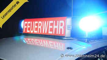 Brandalarm in Rosenheim - Feuerwehr und Polizei vor Ort