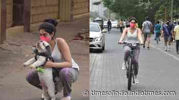 Khushi Kapoor gets trolled for cycling in Mumbai amid COVID-19 restrictions