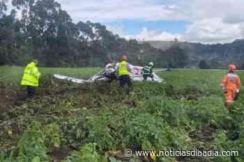 Accidente de avioneta entre Tabio y Tenjo, Cundinamarca - Noticias Día a Día