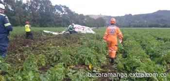 Atención: Avioneta se precipito a tierra en Sierra de Tabio - Extra Bucaramanga