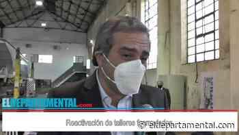"""Oscar """"Cachi"""" Martinez presente en el acto en los talleres ferroviarios - El Departamental"""