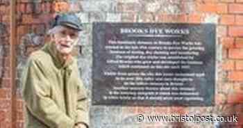 Historic dye works gets plaque by founder's great-great grandson