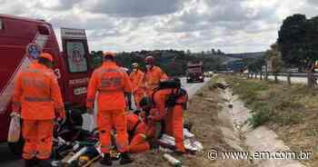 Motociclista fica em estado grave após atropelar cavalo em Vespasiano - Estado de Minas