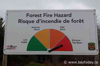 Extreme fire hazards west of North Bay