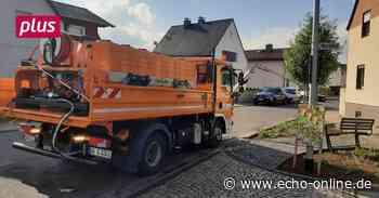 """Griesheim größte """"Gießkanne"""": Mit dem Lkw gegen die Dürre - Echo Online"""