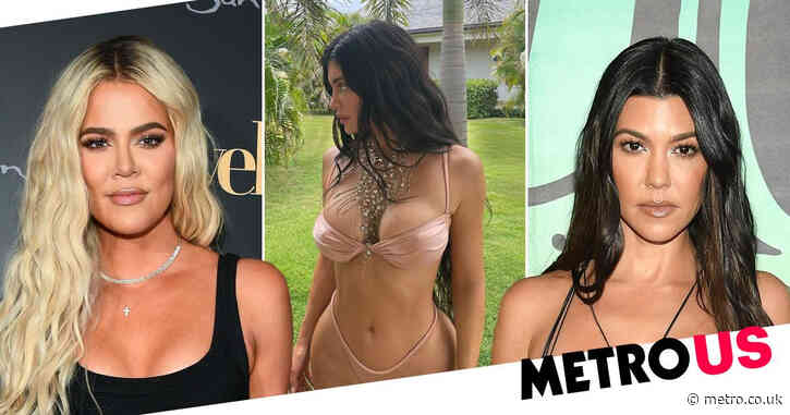 Khloe and Kourtney Kardashian gush over little sister Kylie Jenner as she 'vibes' in nude bikini