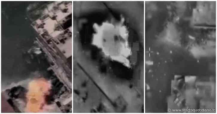 Striscia di Gaza, l'esercito di Israele rilascia i video degli attacchi: colpiti anche un sommergibile e un veicolo – Le immagini