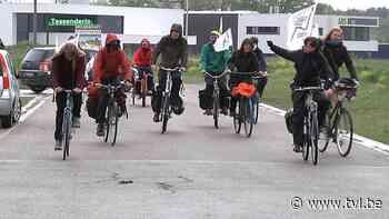 Protest tegen komst van grootste gascentrale van het land in Tessenderlo - TV Limburg