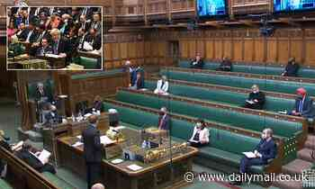 The House of Commons increases the number of MPs allowed in to 64 as Covid rules are relaxed