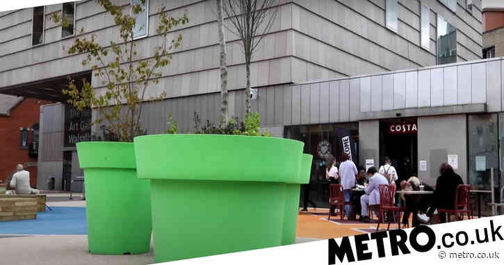 Walsall residents blast plant pots for looking like Super Mario pipes