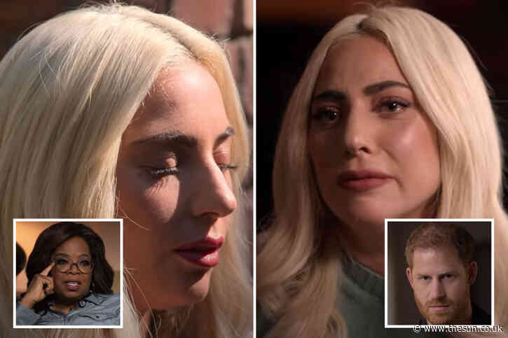 Lady Gaga breaks down in tears over mental health battle in trailer for Oprah & Prince Harry's show The Me You Can't See