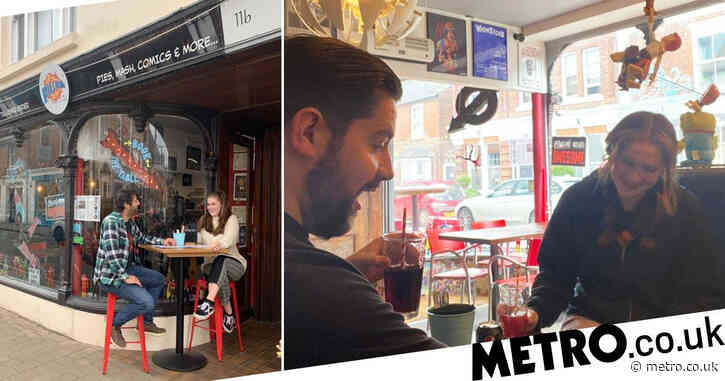 Pie shop that reopened outdoors with two seats has busy return with five tables