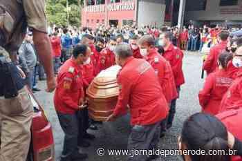Vídeo: Corporação pomerodense participa de último adeus a comandante do Corpo de Bombeiros Voluntários de Schroeder - Jornal de Pomerode