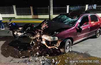 Trânsito: Motociclistas ficam feridos em acidentes em Videira - Portal Caçador Online - Caçador Online