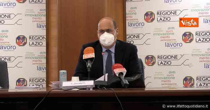 """Zingaretti: """"Dati sulla mortalità sono una svolta. Grazie a campagna vaccinale affronteremo l'estate con un nuovo spirito"""""""