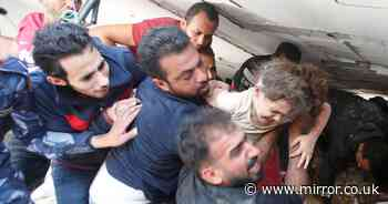 Palestinian girl pulled from rubble 7 hours after bomb killed mum and 4 siblings