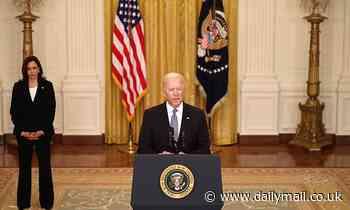 Joe Biden and Kamala Harris finally go maskless for indoor White House event
