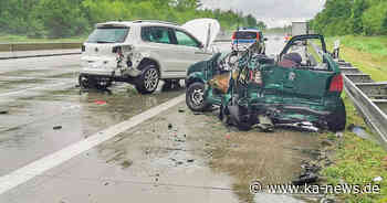 Unfall auf A5 bei Bruchsal: Lkw und zwei Autos stoßen zusammen - ka-news.de