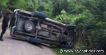 Dos fallecidos tras vuelco de un pick up en Sensuntepeque, Cabañas - Solo Noticias