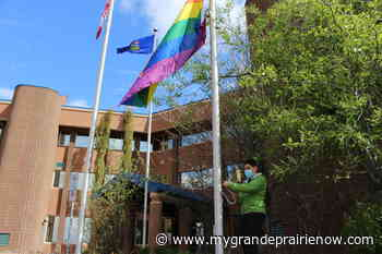 Pride flag raised at Grande Prairie City Hall