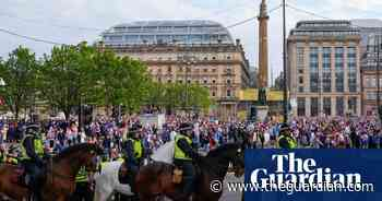 Twenty arrested after Rangers fans march in central Glasgow - The Guardian