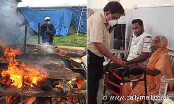 Indian Covid victim, 76, wakes up on her funeral bier moments before she is due to be cremated