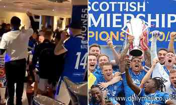 Police Scotland investigating claims Rangers players sang 'f*** the Pope' during title celebrations - Daily Mail
