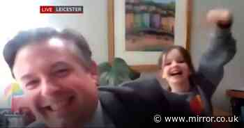 Labour MP's live interview on the BBC gets gatecrashed by his grinning daughter