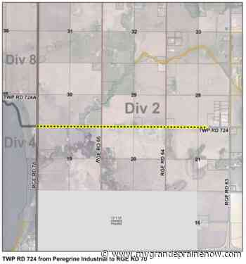 Construction on Township Road 724 starts Tuesday