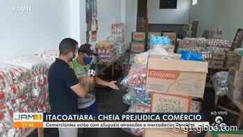 Cheia do Rio Amazonas inunda ruas e prejudica comerciantes em Itacoatiara (AM) - G1