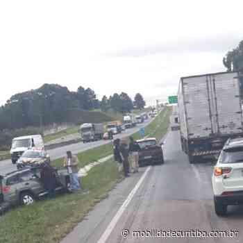 Acidente entre veículos no Contorno Leste em São José dos Pinhais - Mobilidade Curitiba