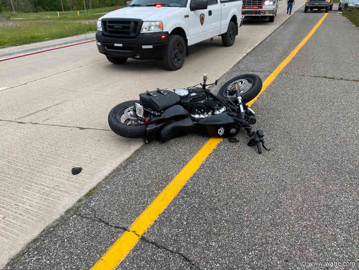 Road rage leads to motorcyclist hitting breaks and flying off motorcycle