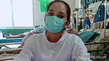 Covid nurse in Nepal: 'I don't care about my pain'