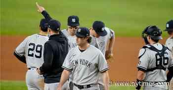 Gerrit Cole Falters as Yankees Lose to Rangers