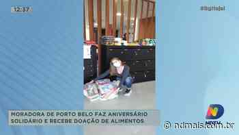 Moradora de Porto Belo faz aniversário solidário e recebe doação de 700 KG de alimentos - ND Mais