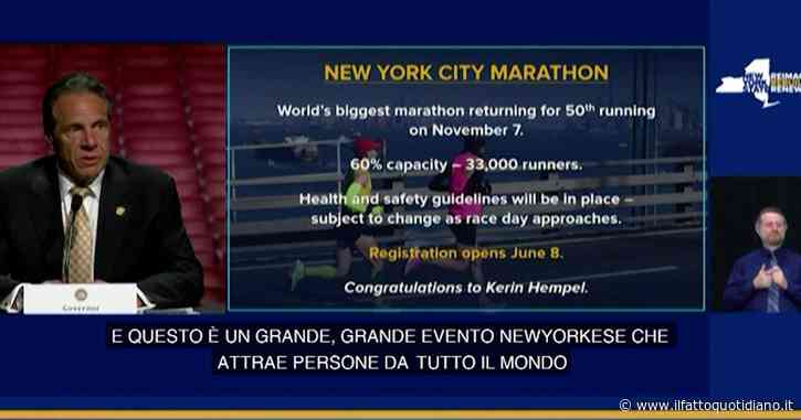 """New York, torna la maratona. L'annuncio del governatore Andrew Cuomo: """"Ci saranno 33mila corridori"""""""