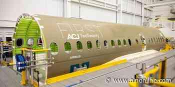 First ACJ TwoTwenty Fuselage Arrives in Mirabel - Aviation International News
