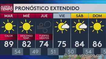 Pronóstico: martes con condiciones calurosas en Fresno | Video | Univision 21 Fresno KFTV - Univision