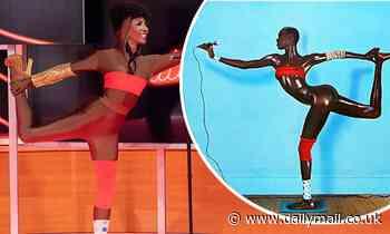 Sinitta transforms into Grace Jones in red bikini as she recreates her Island Life album cover